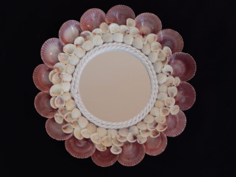 "Pecten Nobilis Scallop Mirror 10 3/4"" x 10 3/4"" Lot #10230"